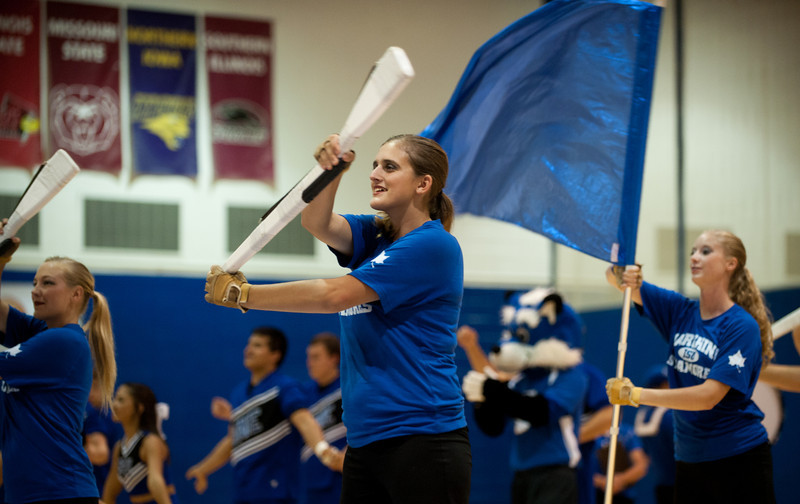 Homecoming pep rally in Aerna for Homecoming 2013