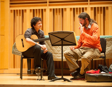 Guitar master class in the Center for Performing and Fine Arts recital Hall