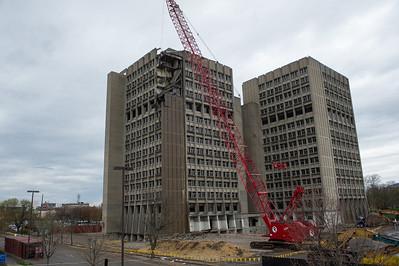 Statesman Towers demolition