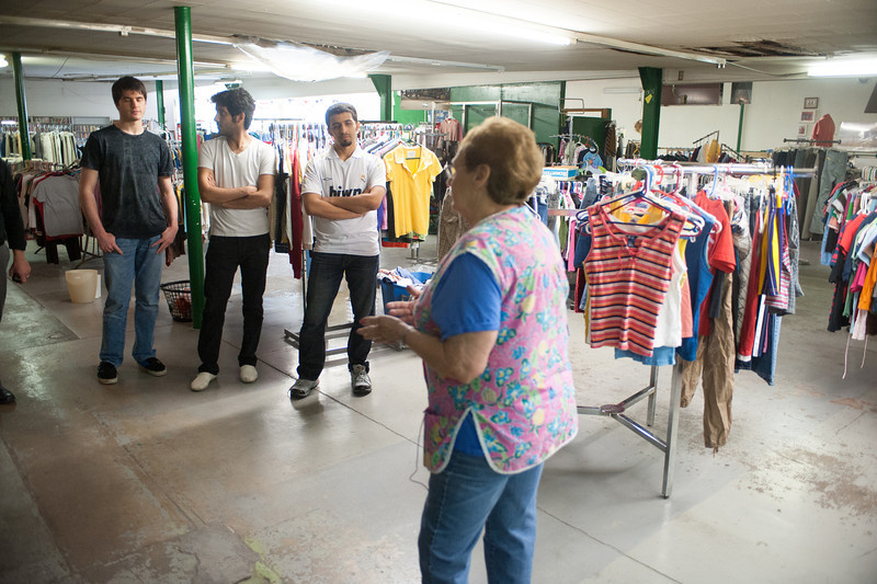 Business students visit Lighthouse Mission store in 12 points area