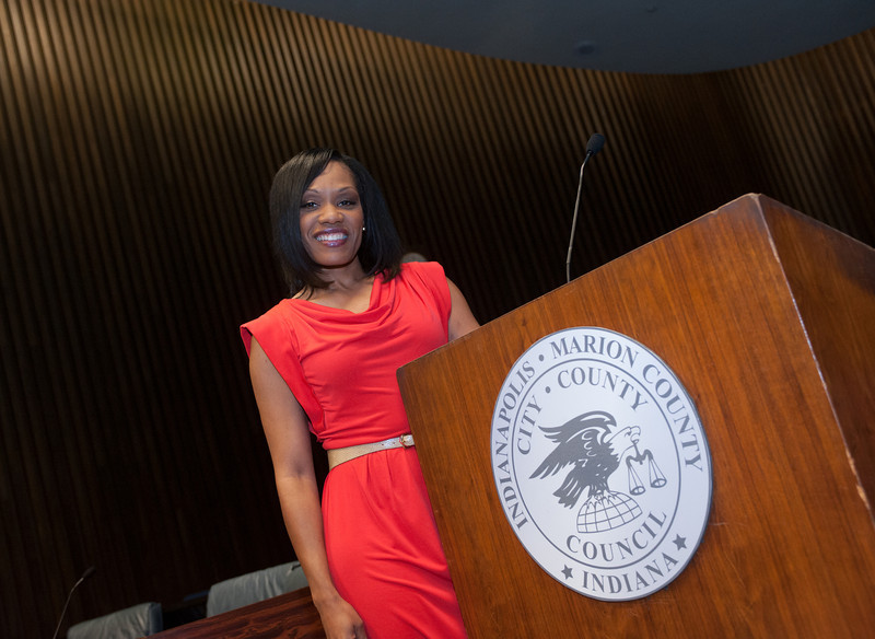 Alum Maggie Lewis as president of the Indianapolis City Council and director of the Dove Center in Indy
