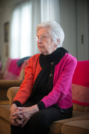 Vanita Gibbs, retired  Indiana State Professor Emeritae of Education, at her residence.