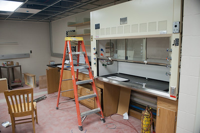 Chemistry lab renovation and construction in Science Building