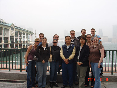 group at Victoria Harbor before crossing over to Tsimshatsui / Kowloon side