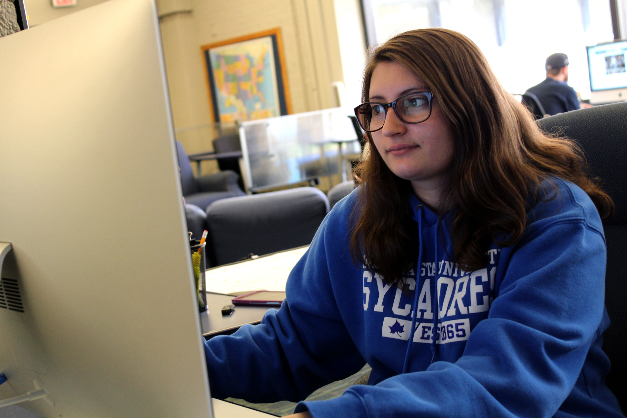 Media student working at Tribune Star upon graduating early