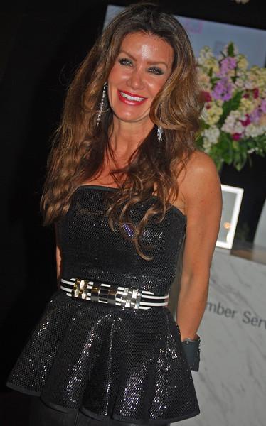 Janice Dickinson attending Mercedes Benz New York Fashion Week 2013