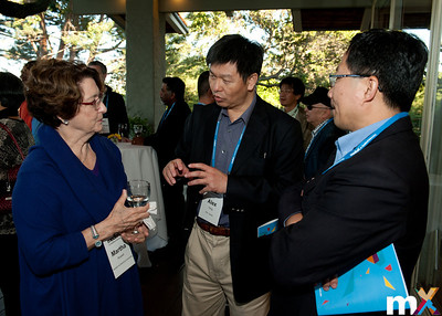 From Left to Right: Martha Russell, mediaX at Stanford University ; Alex Peng, ITRI, Taiwan and Stephen Su, ITRI, Taiwan  mediaX Appreciation Dinner April 28th, 2014 Photo Credit: Steve Castillo
