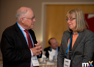 From Left to Right: mediaX Distinguished Visiting Scholars Chuck House and Esther Wojcicki  mediaX Appreciation Dinner April 28th, 2014 Photo Credit: Steve Castillo
