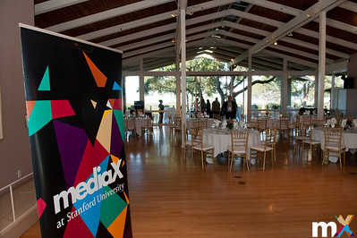 The stage is set at the Quadrus Conference Center for dinner.  mediaX Appreciation Dinner April 28th, 2014 Photo Credit: Steve Castillo