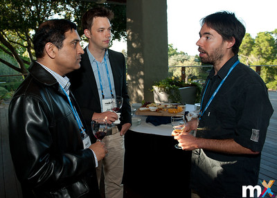 From Left to Right: Shyam Pillalamarri, Samsung SDS Research America; Joris Janssen, Sense Observation Systems and Yoni Donner, Stanford University  mediaX Appreciation Dinner April 28th, 2014 Photo Credit: Steve Castillo