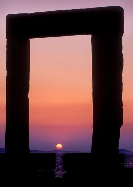 Apollo's Arch, island of Naxos, Greece.