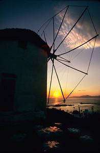Windmill at sunset, Mykonos