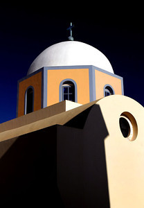 Colorful church, Santorini