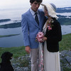 Pamela and Ryan were married on Kodiak Island in 1979. Their Labrador Tar took part in the ceremonies.