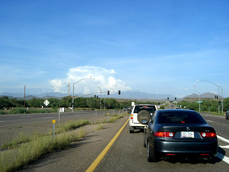 Here we are pulling into Ft McDowell Casino do some carpooling before heading up to the trailhead, north of Payson.  I took this picture because of the storm clouds in the distance that were right over the area we would be hiking in!