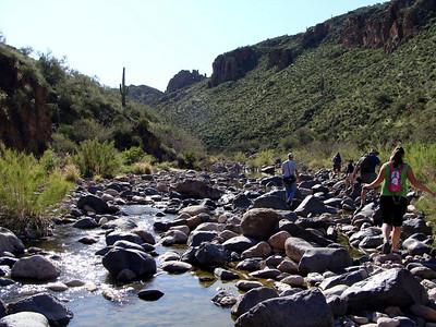3H Group, Boulder and LaBarge Canyons Loop Hike, 3-7-09