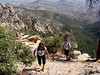 Phelecia and Michael did a little rock scrambling on a side trail and are seen here making their way back to us.