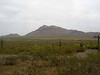 Ground view of the mountain across the highway from Picacho Peak.  There will be similar views as we ascend our mountain to mark our vertical progress.