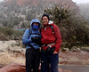 Erica and I, all bundled up, at the trailhead.  The temp was only 32 degrees!