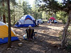 Our campsite, Friday afternoon.