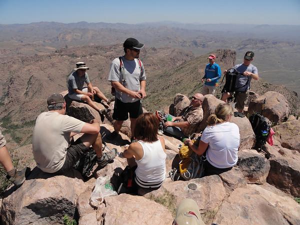 Hieroglyphics Canyon to Superstition Peak, 4-16-11