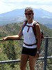 Gladys, on the deck of the fire tower.