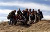 "Group shot before we started we started hiking, bushwacking, creek-crossing, and boulder scrambling...in other words, ""having fun!"""