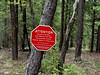 This sign marked an area that was off limits due to a nest with a family of eagles in it.