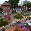 The view from the Stadhuys looking down onto the clock tower in Malacca.