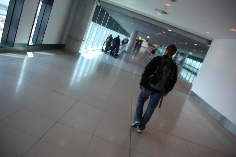 The stroll to baggage claim.