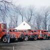 Robert E Pape and the farm trucks, c1958