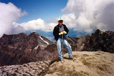 MOUNT ST HELENS SOLO SHOT - 1995 I've always loved this photo of me, especially since it's the very first one of me summiting any mountain. What a great backdrop!