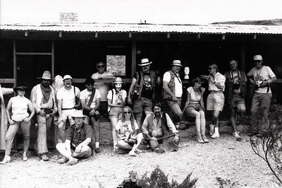 BIG BEND PHOTO WORKSHOP 1986 GROUP SHOT Homer Wilson Ranch, Big Bend National Park, Texas