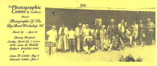 BIG BEND PHOTO WORKSHOP -- 1986