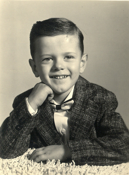 OLAN MILLS PORTRAIT<br /> Mom must've bought some stock in the Olan Mills Photography Studio, because she always insisted we go there every year and have our pictures taken. This is probably around 1955 or 1956, and is one of my favorites. I just love that snazzy sport jacket. (And I still have that tie, too.)