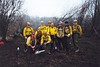 VANP-37 FIREFIGHTING CREW<br /> This was my one and only detail as a wildland firefighter, and it was exciting. I don't think I'd ever want to do it again, especially if I got sent to someplace mountainous, but it was a good personal experience. We were sent first to St Croix National Scenic Riverway in Minnesota (where this shot was taken) for a week fighting peat fires (which was impossible), then shipped off by school bus to the Francis Marion National Forest in South Carolina to see some real action. I'll tell you, nothing makes you humble like standing before a roaring four-story blaze with only a four-foot bulldozed fire line between you and it. Pretty exciting, indeed.