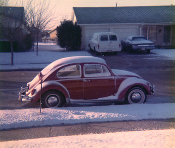 MY FIRST CAR Here's a shot of my first car, a 1967 VW Beetle. I drove the crap out of this automobile, right up until that lady pulled out in front of me in an intersection. That was a truly sad day for me, as I felt I'd lost an old and dear friend. Actually, I had.