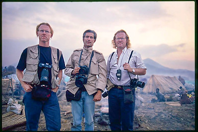 David Turnley, Jim Nachtwey and Peter Turnley (r. to l.)
