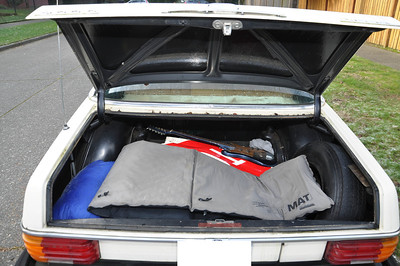 Can fit 6 kids into trunk or other...