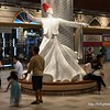 A whirling dervish statue at Terminal 21 Shopping Centre in Korat, Thailand in August 2017