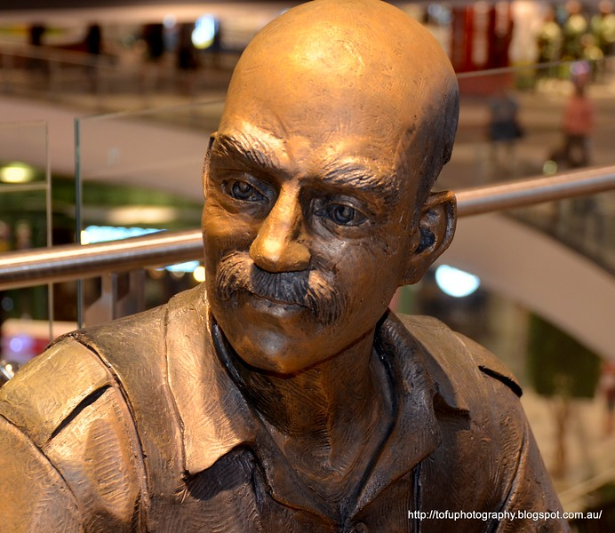 A statue of a Turkish shoe shine man at Terminal 21 Shopping Centre in Korat, Thailand in August 2017
