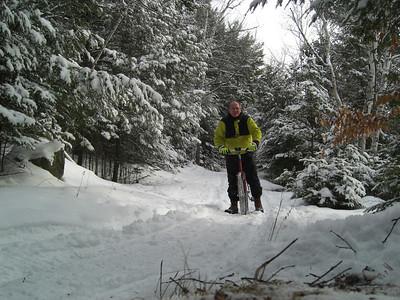 Icebiking, SLHS Trail, Christmas morning, 2009 CIMG0850