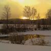 Saranac Lake High School Pond, Christmas morning, 2009 CIMG0841