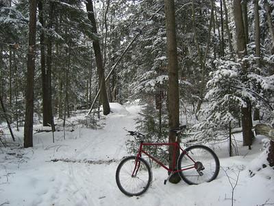 Icebiking, SLHS Trail, Christmas morning, 2009 CIMG0848