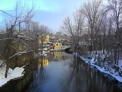 Saranac River, Christmas morning, 2009 CIMG0838