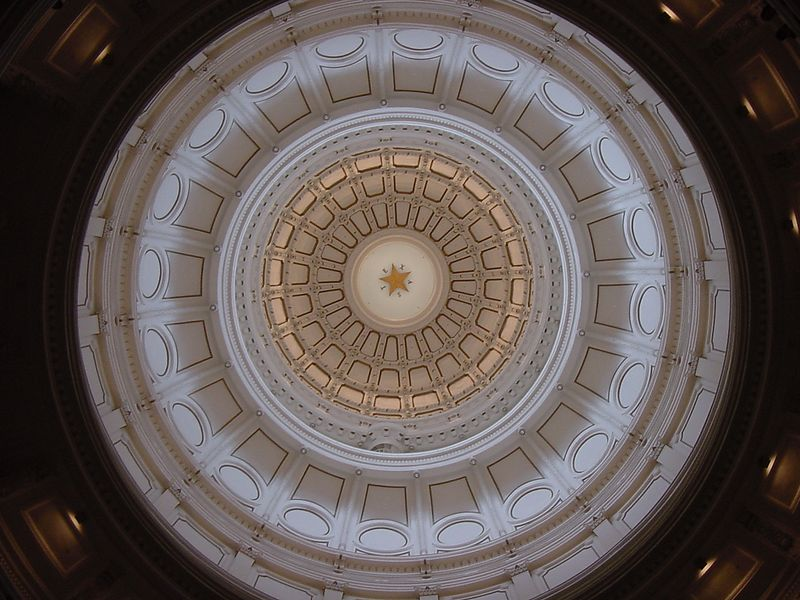 The Rotunda at the Texas State Capital building