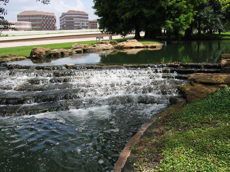 Water flows near home.