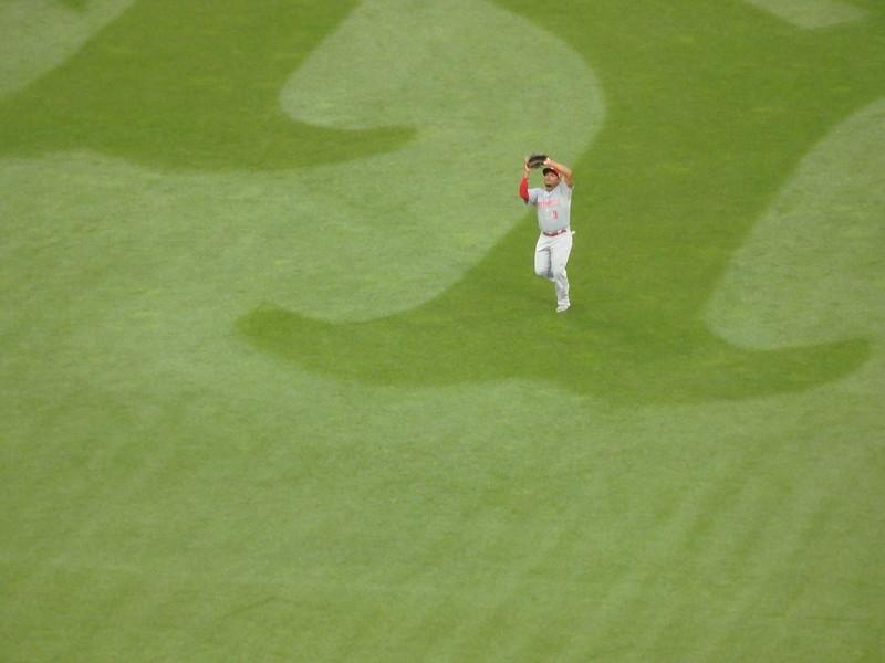 Marlon Byrd catching fly ball