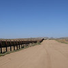 Border fence looking east