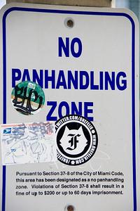 As opposed to pandhandling encouraged zone?